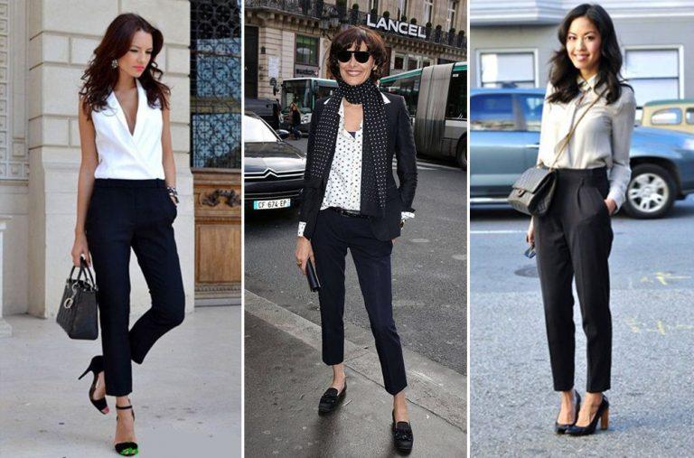 C чем носить черные брюки
