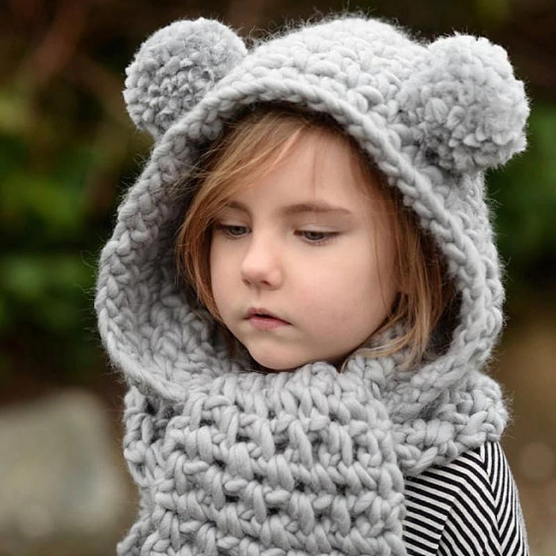 Детские вязаные шапки