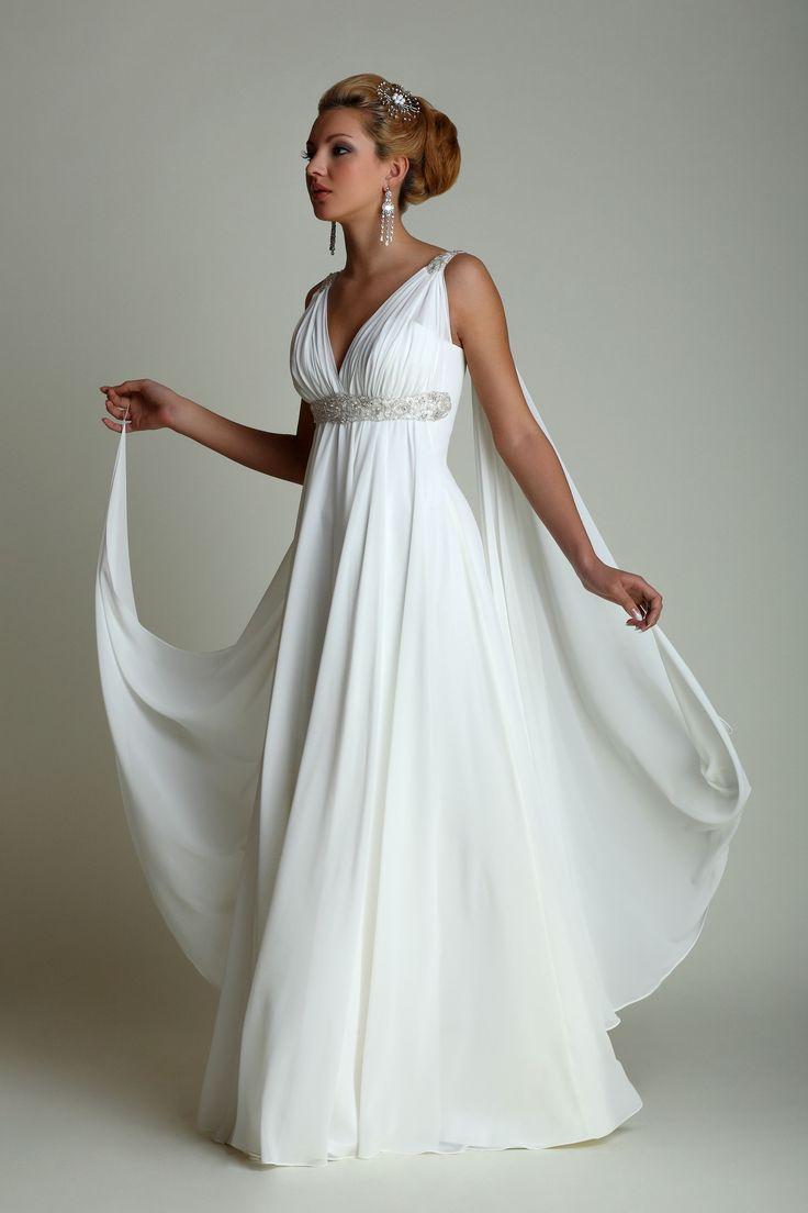 New-Wedding-Dresses-with-Watteau-Train-2020-Sexy-V-neck-Long-Chiffon-Grecian-Beach-Maternity-Wedding