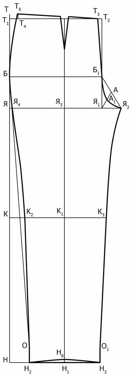Vykrojka-perednej-polovinki-klassicheskih-zhenskih-bryuk